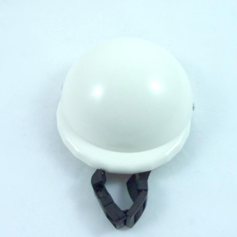 accessoire pour chien, casque moto pour chien blanc